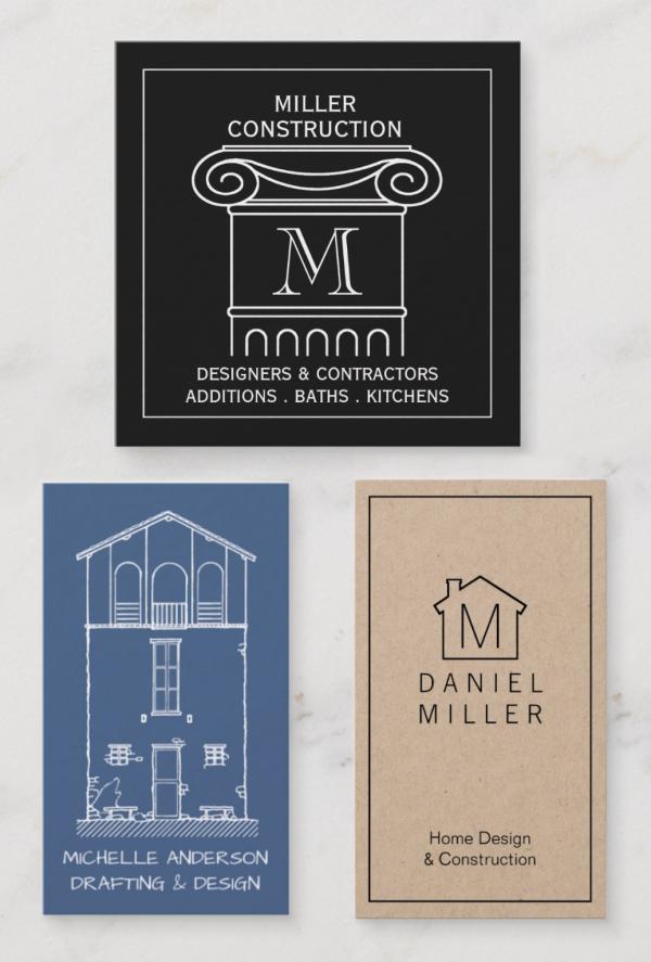 Business Cards For Construction Architect Real Estate Agent Simple Elegant Card Des Elegant Business Cards Real Estate Agent Business Cards Elegant Cards