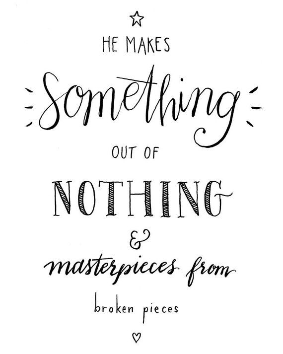 Something Out Of Nothing: hand lettered PRINTABLE INSTANT | Etsy