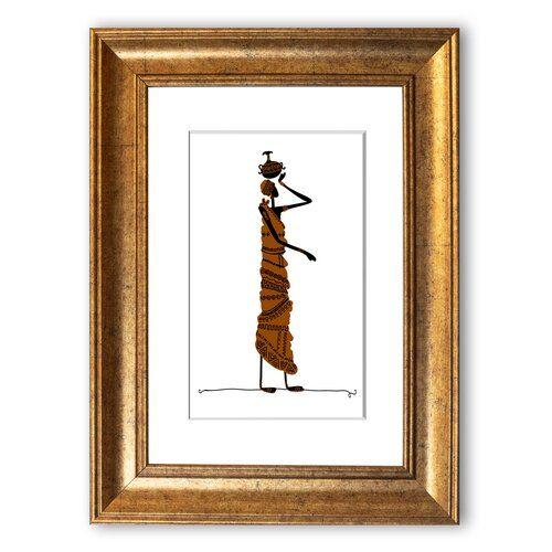 East Urban Home 'African Women 3' Framed Graphic Art | Wayfair.co.uk