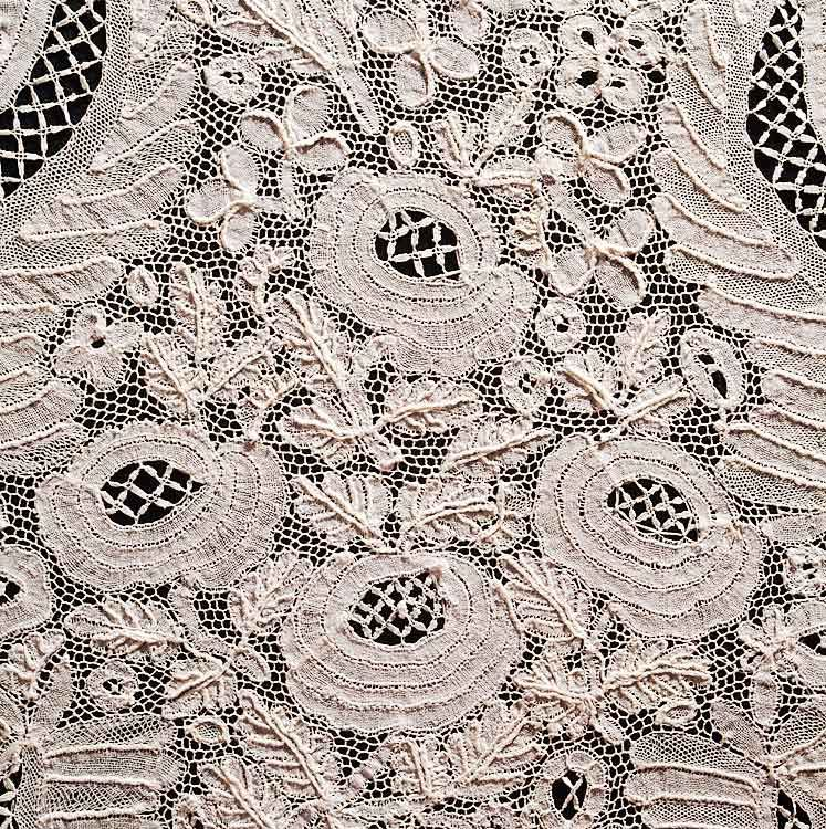 Detail Of Honiton Lace Lappet, Cardiff, Mid-19th Century