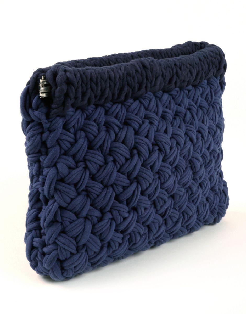 вязаный клатч   Handmade   Pinterest   Tasche stricken, Textilgarn ...