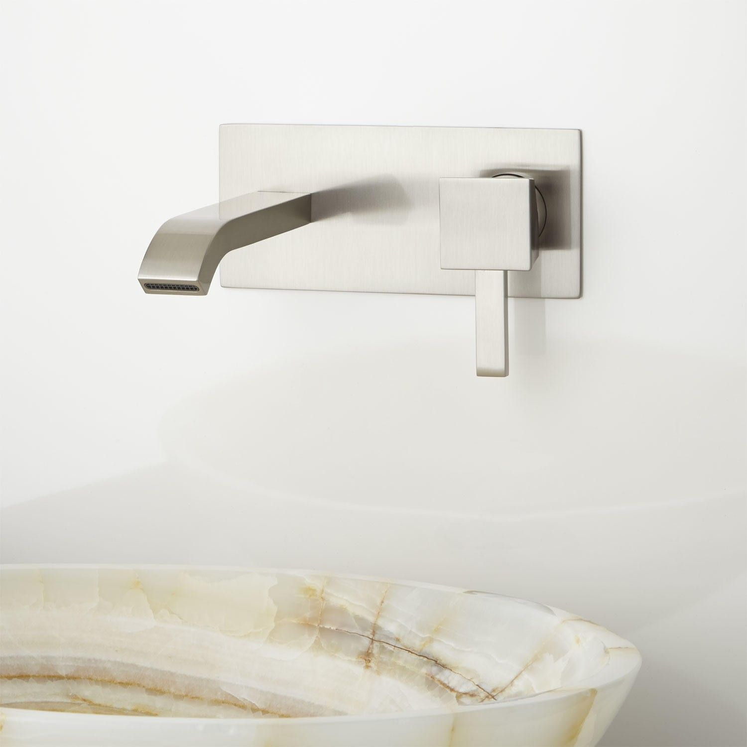 Arianna Wall-Mount Bathroom Faucet | Wall mount, Faucet and Walls