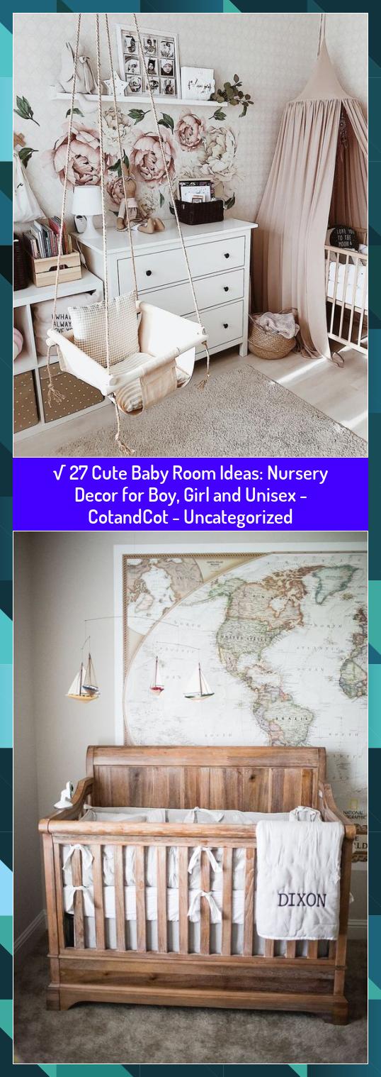 √ 27 Cute Baby Room Ideas: Nursery Decor for Boy, Girl and Unisex - CotandCot - Uncategorized #baby #Boy #CotandCot #Cute #Decor #Girl #Ideas #Nursery #room #Unisex