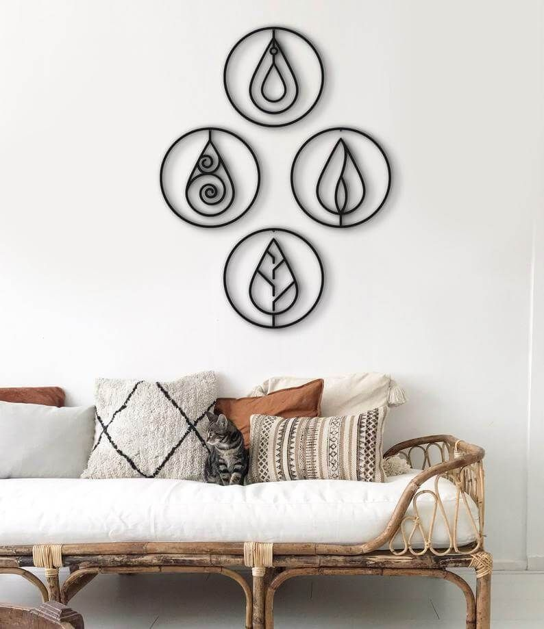 All The Elements Metal Wall Art Hencely Home Decor Decor Metal Wall Hangings Wall Art Decor