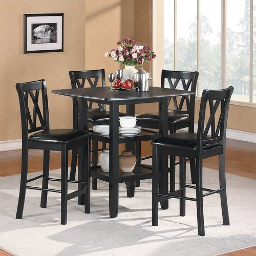 5 Pc Homelegance Norman Collection Counter Height Set