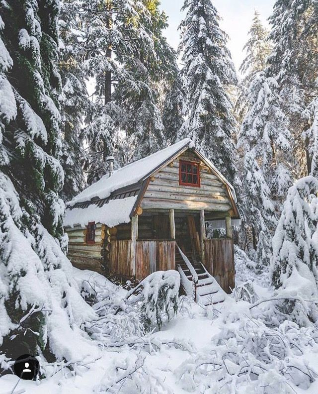 Snowy Log Cabin ~ Pin by ashley on home pinterest jack o connell snow