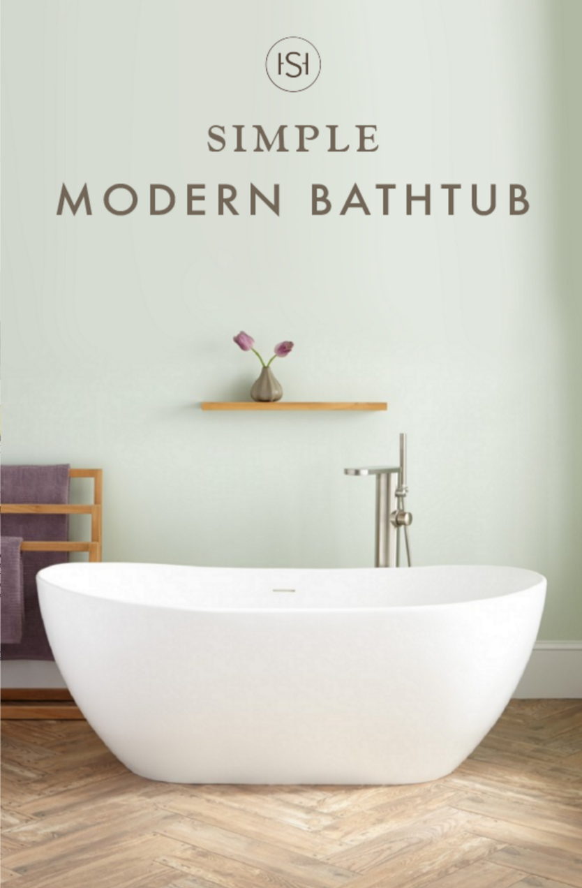 The Winifred Gloss Resin Freestanding Tub Impresses With