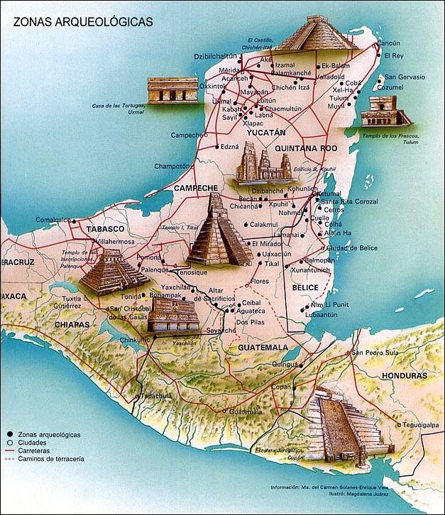 Pyramids In Mexico Map map of inca maya and aztec   Google Search | Mexico, Yucatan