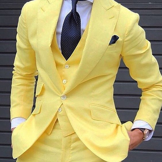 A Bold Look for the Groom on Wedding Day Yellow and Black