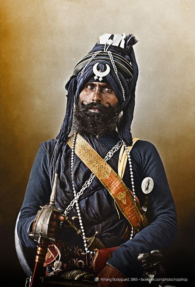 Nihang Bodyguard, c.1865 | History, Historical photos and ...