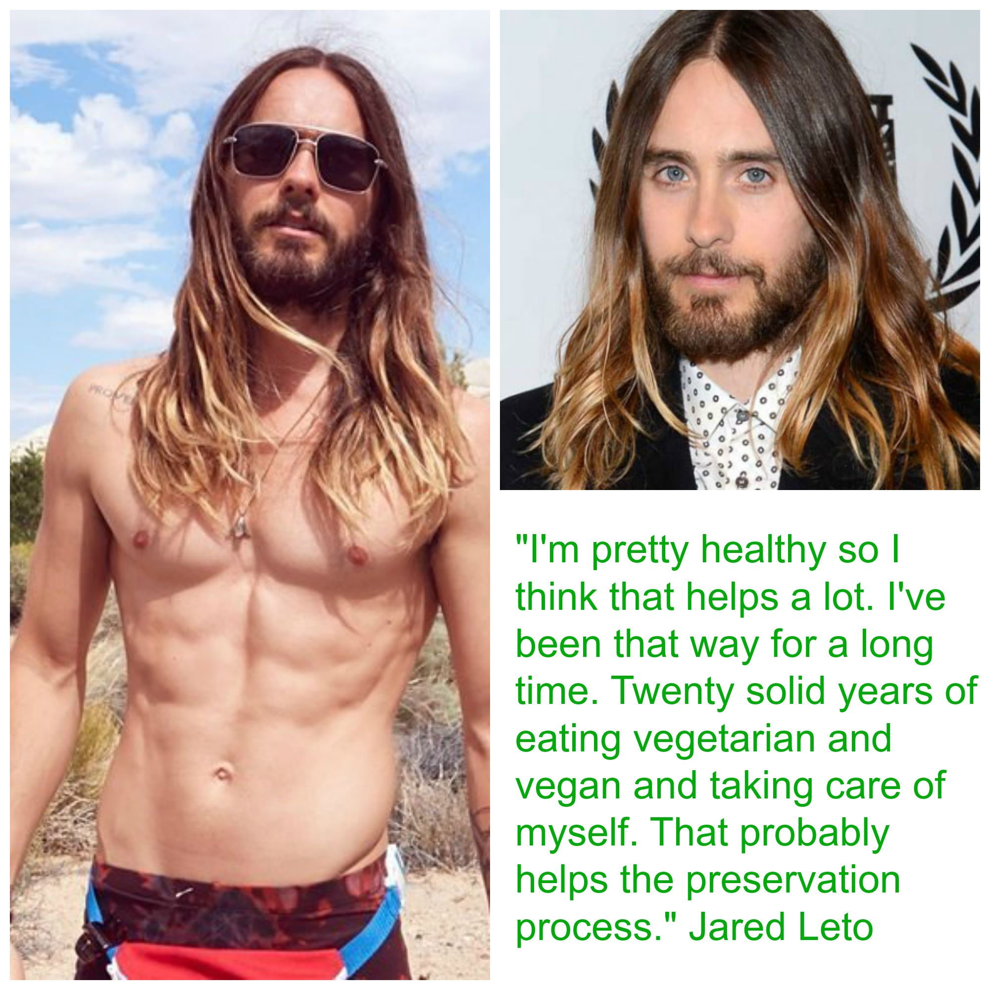 Vegan Jared Leto Credits His Diet And Workouts For His Youthful Good Looks Why Vegan Famous Vegans Vegan Lifestyle