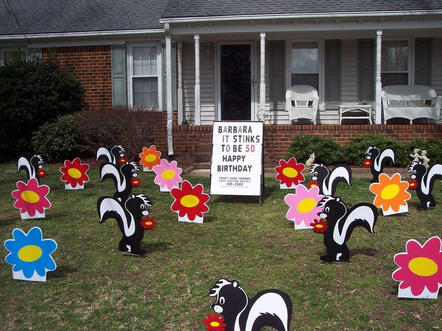 VA Lawn Greetings Yard Cards Virginia Birthday Signs Front