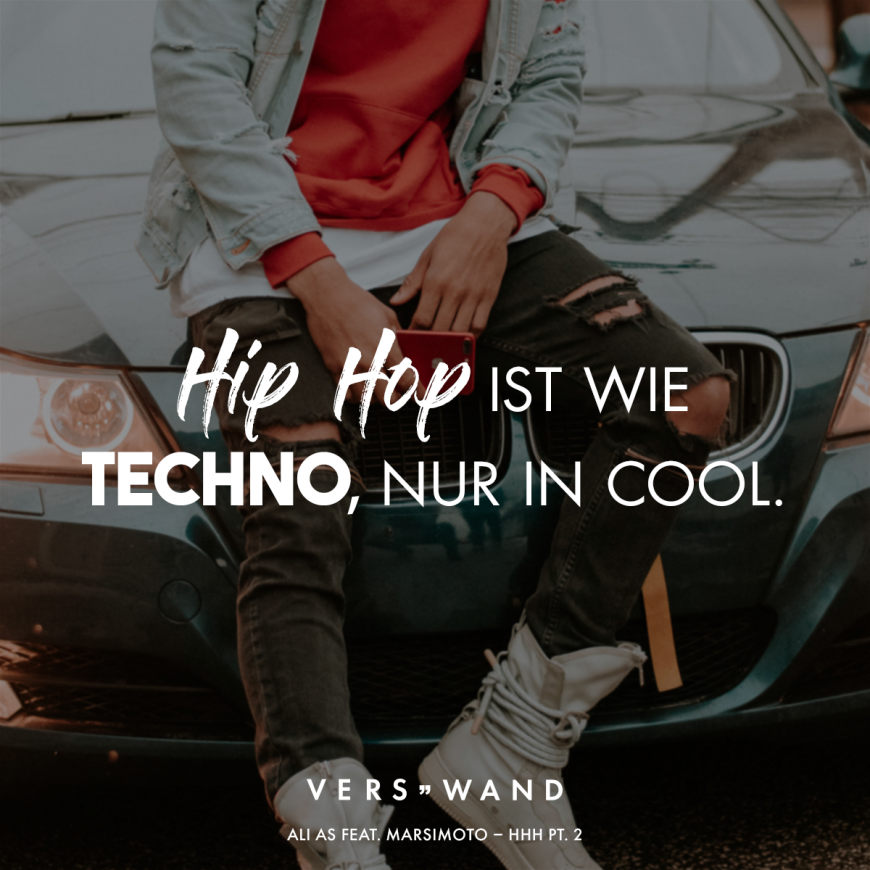 Hip Hop Ist Wie Techno Nur In Cool Ali As Feat