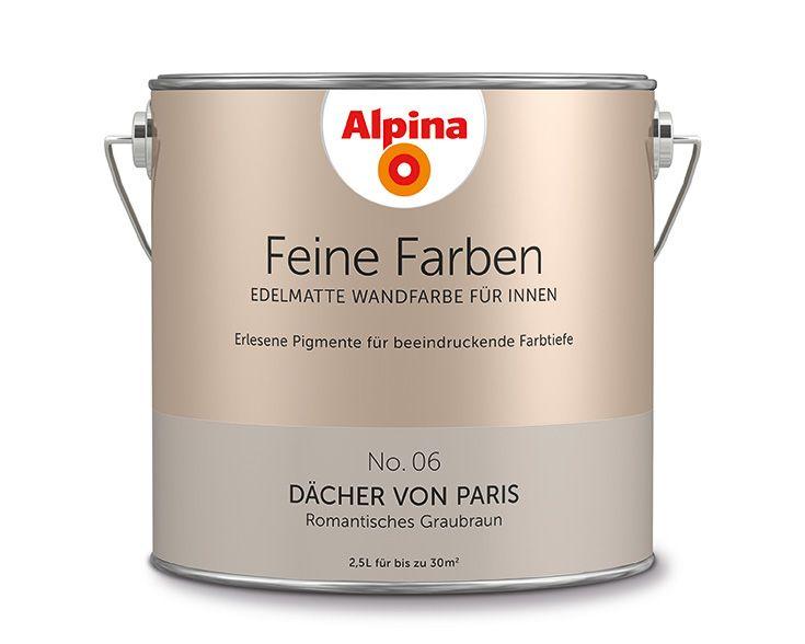 Alpina feine farben d cher von paris dieser noble taupe for Zimmergestaltung farben