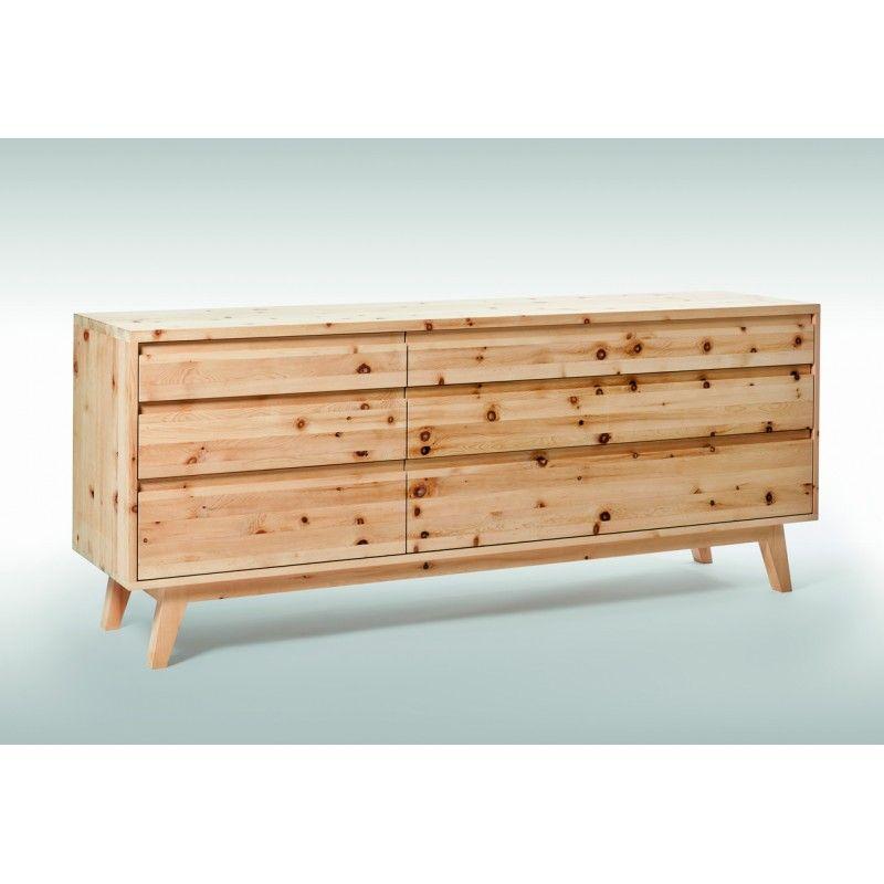 Pinus Sideboard Anrichte Aus Massivholz In Zirbe Arve Sideboard Side Board Coole Raume