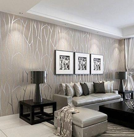 Trendy Wall Paper Modern Livingroom Ideas Home Living Room Wallpaper Modern Wallpaper Living Room Grey Wallpaper Living Room