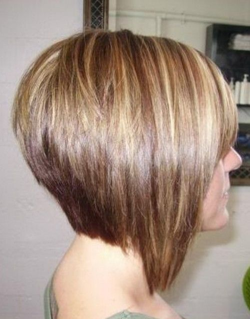 Do Not Want Bobs For Thick Hair Side View Of Stacked Bob