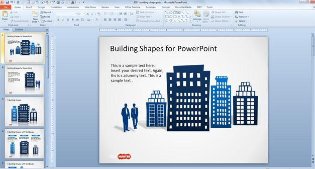 Office Building Shapes For Powerpoint  Places To Visit