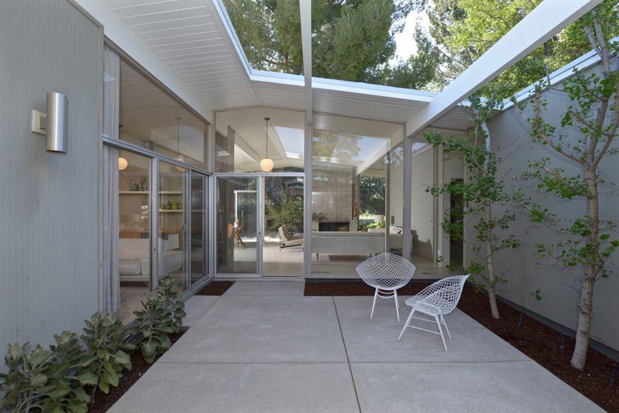 Eichler house MID CENTURY EXTERIORS Pinterest Jardineras - jardineras modernas