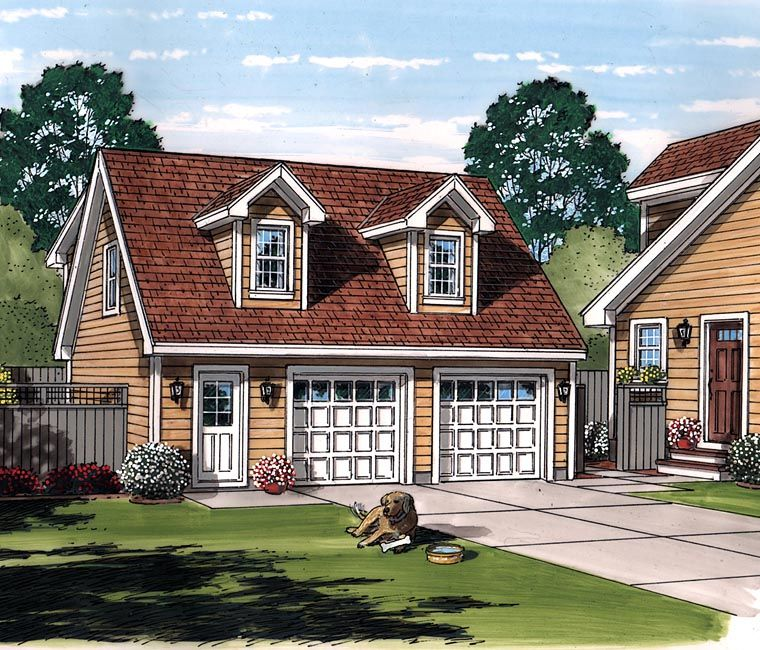 2 Car Garage Apartment Plan Number 94343 With 1 Bed 1: Saltbox Style 2 Car Garage Apartment Plan Number 30030