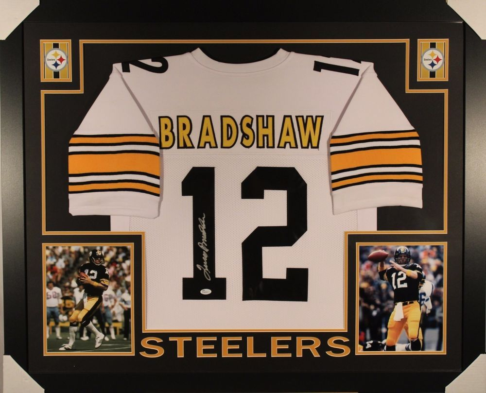super popular 7882b af2a3 Terry bradshaw signed autographed framed pittsburgh steelers ...