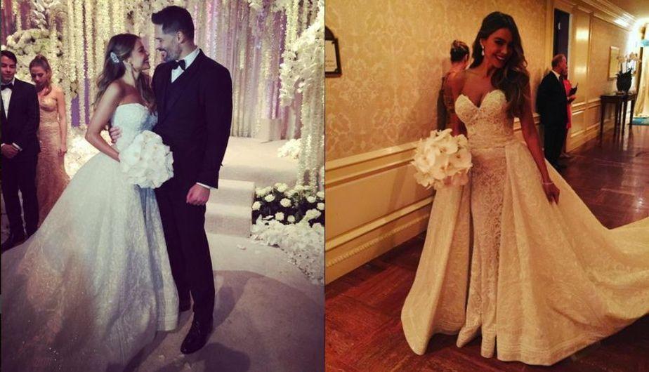 Sofía Vergara y Joe Manganiello se casaron en EEUU al ritmo de música colombiana [Fotos y video]
