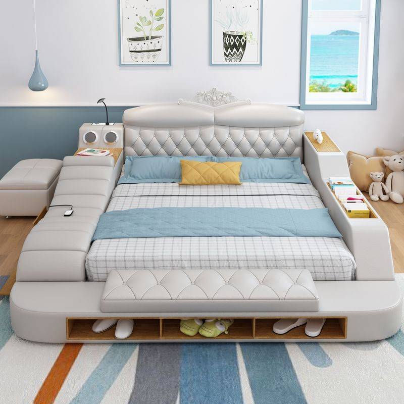 Tatami Bed Main Bed Modern Minimalist Leather Soft Bed European