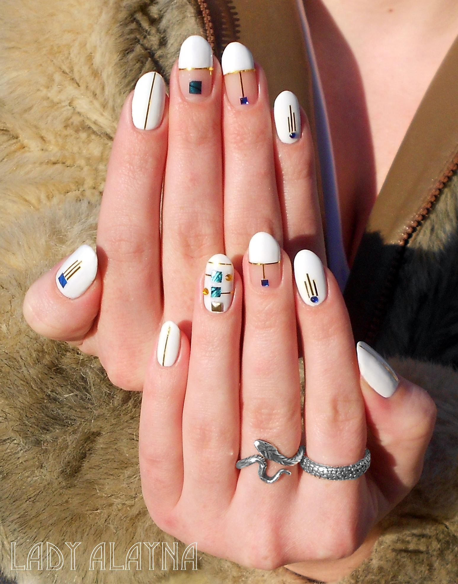 My latest nail art, an homage to the detailed and refined nail ...