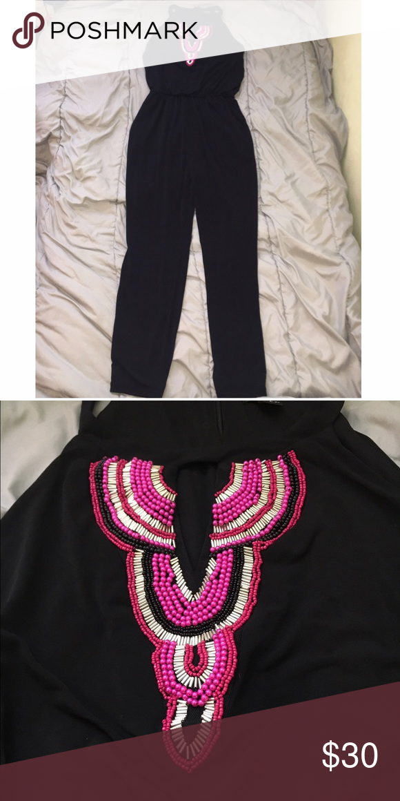 Jumpsuit sz M Nicole By Nicole Miller black jumpsuit size medium worn once.   Don't be shy to make an offer, accepting reasonable ones!! Will do cheaper on MERCARI Nicole by Nicole Miller Other