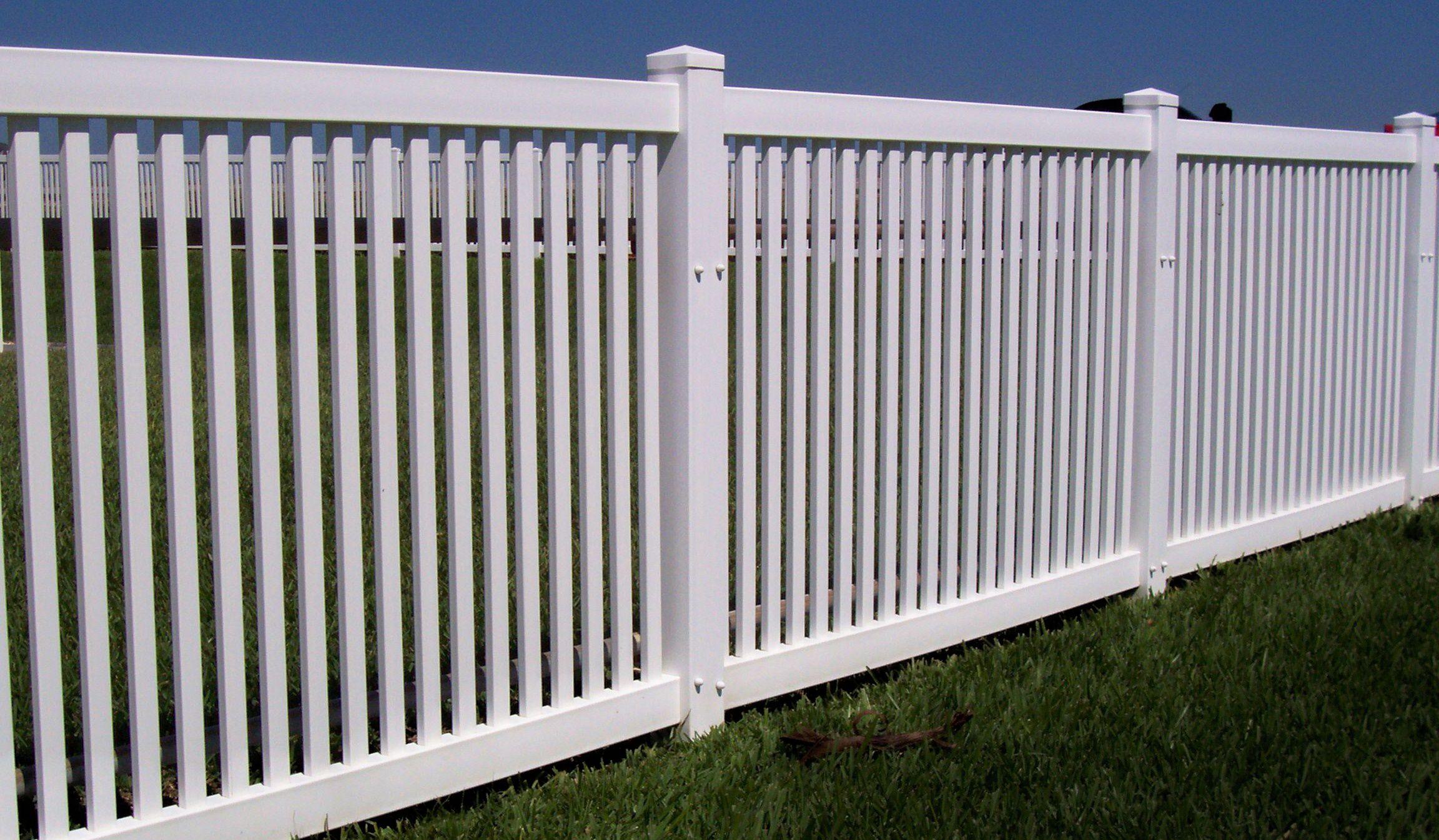 Vinyl White Fencing Vinyl Fence Fence Pinterest