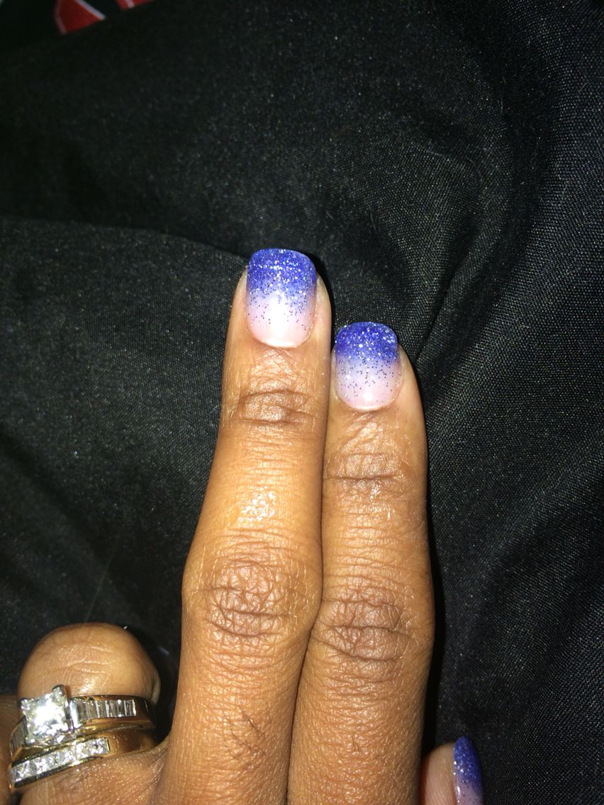 Close up of purple NexGen ombré nails by Natalie. | Picasso Nails ...