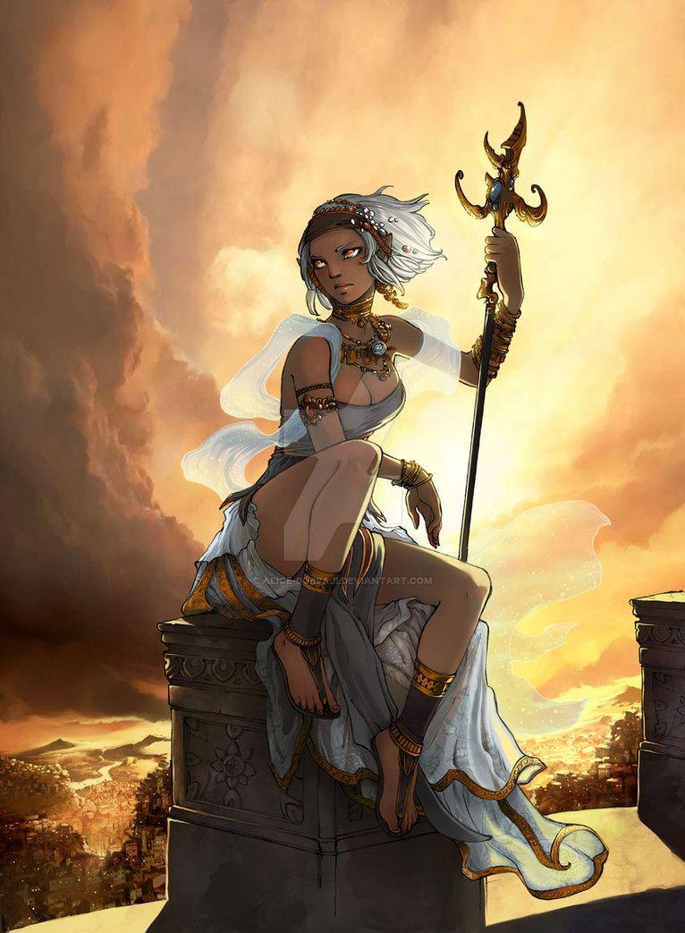 Fantasy Art Dark Skin Lady