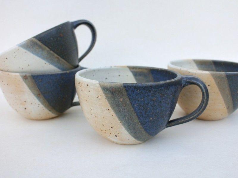Becher & Tassen - Tasse 0,4l für Milchkaffee oder Tee - ein Designerstück von gefaessefuergedanken bei DaWanda