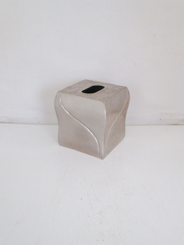 Decorative Tissue Box Cover Tissue Box Cover Tissue Box Holder Mid Century Silver Tissue Box