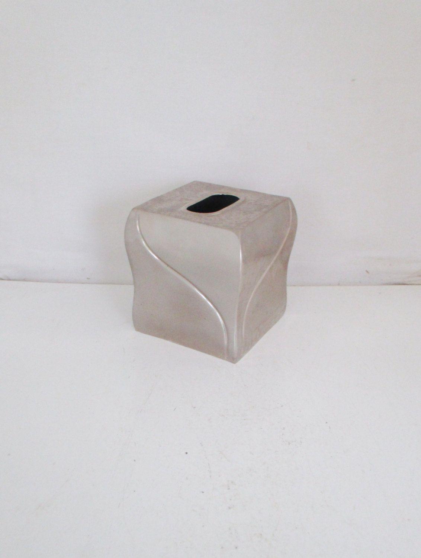 Decorative Tissue Box Holder Tissue Box Cover Tissue Box Holder Mid Century Silver Tissue Box