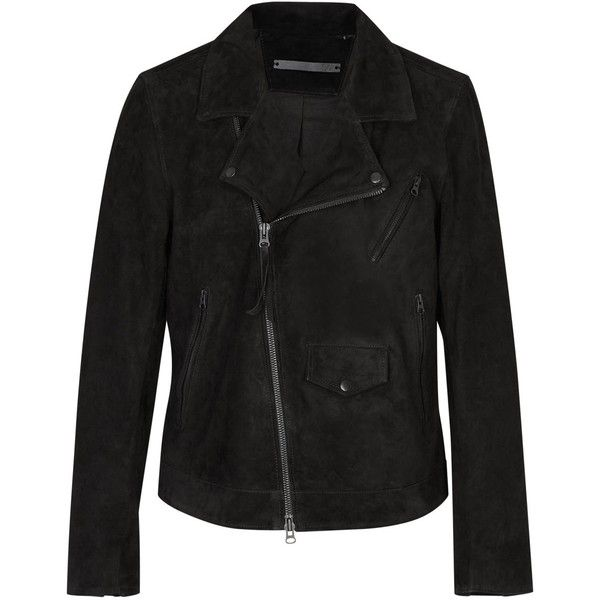 Tiger of Sweden Zuko fringed suede biker jacket (3.415 RON) ❤ liked on  Polyvore featuring men's fashion, men's clothing, men's outerwear, men's  jackets, ...