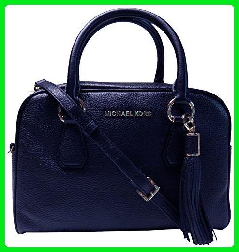 Michael Kors Bedford Medium Tassel Leather Satchel Navy - Top handle bags (* Amazon Partner