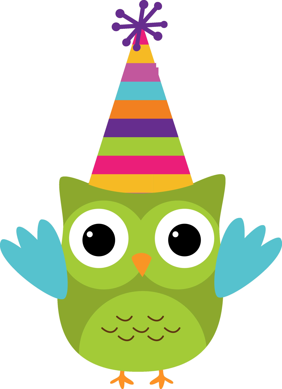 Corujas 3 Owl8 Png Minus Happy Birthday Clip Art Happy Birthday Clip Owl Birthday Parties