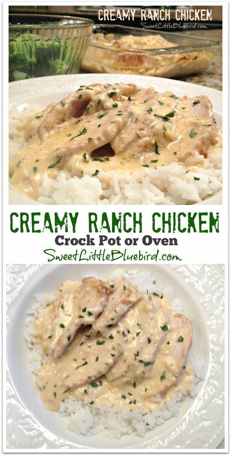 Creamy Ranch Chicken (Crock Pot or Oven)