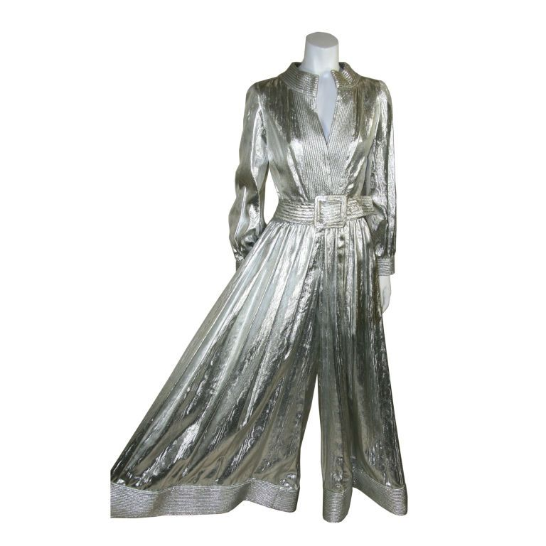 Donald Brooks Silver Lame Jumpsuit | Donald o'connor, Vintage and ...
