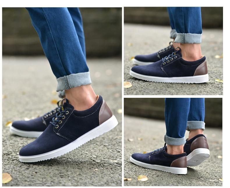 a456b2c58a Men s Casual Faux Suede Sneaker – KalsordCasual Dress Sneakers Hipster  Boots With Jeans Vans 2019 Fashion