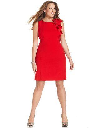dd1775048a7 ShopStyle  Calvin Klein Plus Size Dress