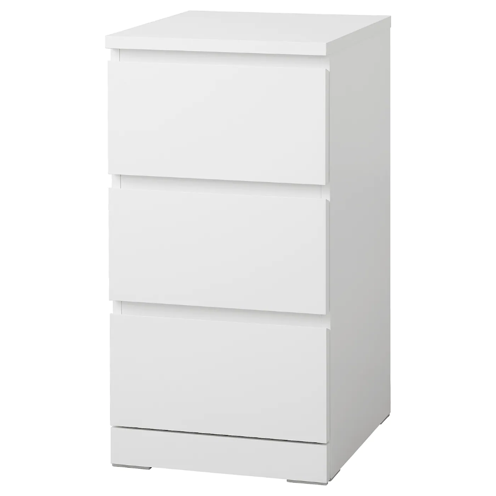 Malm White Chest Of 3 Drawers 40x78 Cm Ikea In 2020 Malm Kommode Kommode Schubladen