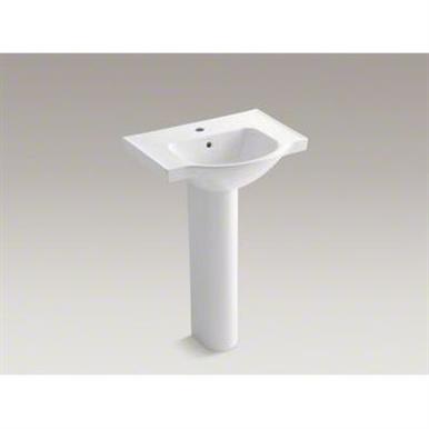 Kohler Veer Veer 35 5 In H White Vitreous China Pedestal Sink Sink