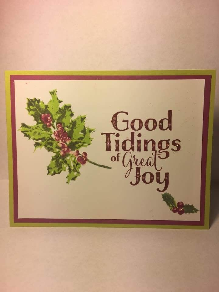 Stampin\' Up! Good Tidings | Others\' Stampin\' Up! Cards | Pinterest ...