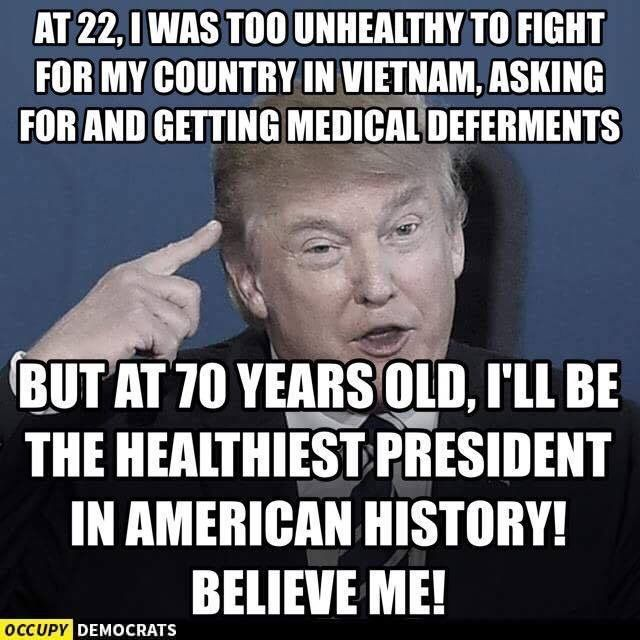 """Trump Healthcare Quote: Trump Paid His """"doctor"""" To Write Him A Clean Bill Of"""