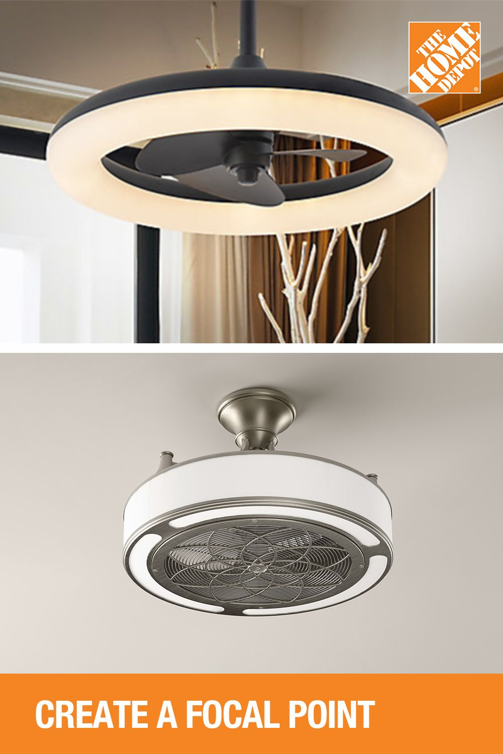 Stylish Ceiling Fans In 2020 Ceiling Fan Home Depot Lighting And Ceiling Fans