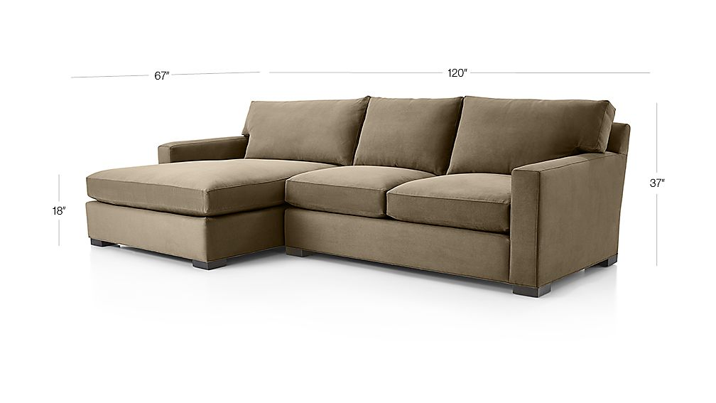 Axis Ii 2 Piece Left Arm Double Chaise Sectional Sofa Reviews