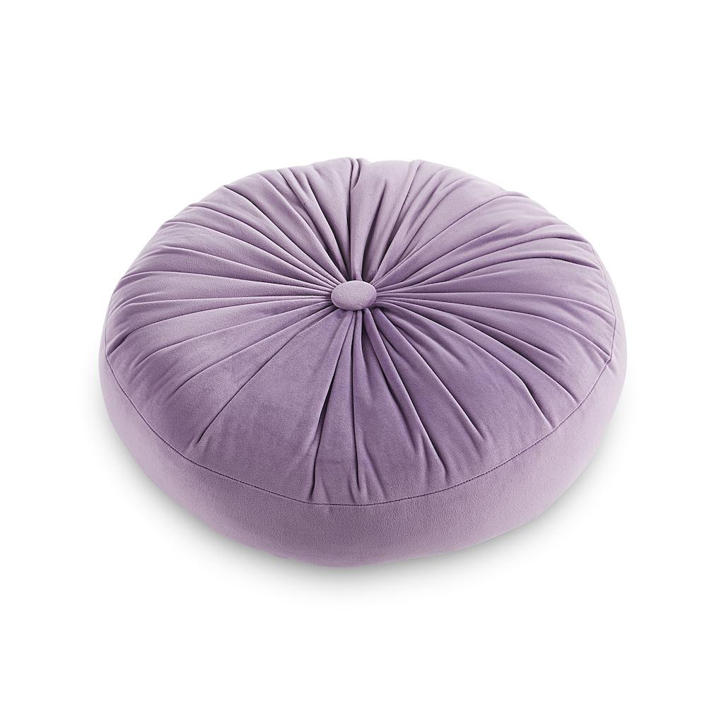 round purple throw pillow online