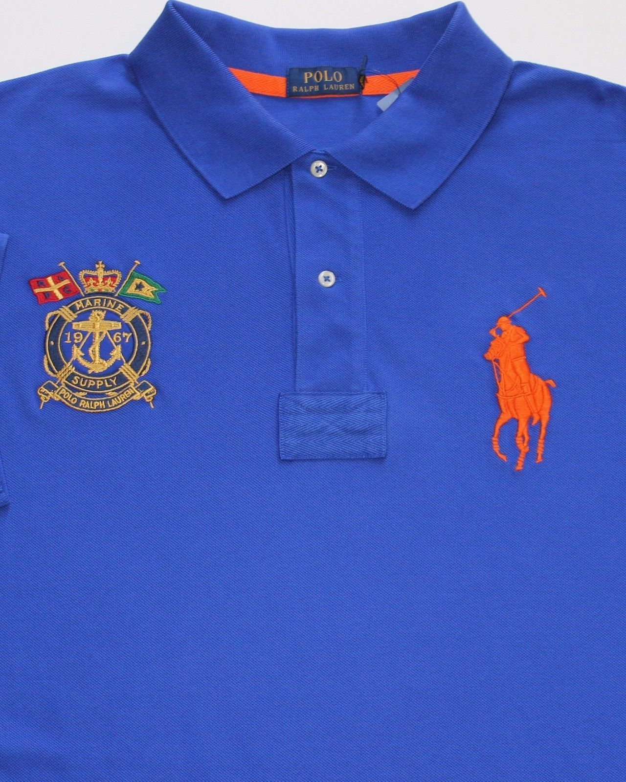 New Polo Ralph Lauren Cotton Blue Big Pony Bleecker Mesh Polo Rugby sz TALL  3XLT  96fc0f0d9